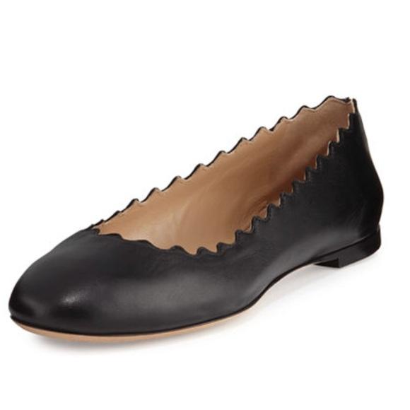 618298ff2483 Chloe Shoes - Chloe scalloped lauren flats black